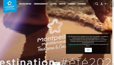 Site internet de Office de Tourisme et des Congres Montpellier Mediterranee Metropole