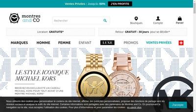 Site internet de Montres And Co