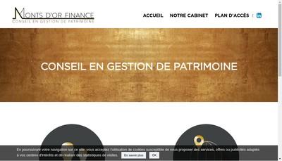 Site internet de Monts d'Or Finance