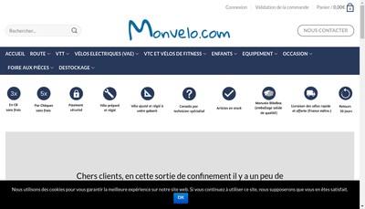 Site internet de Monvelo Com