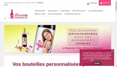 Site internet de Mon Vin Personnalise