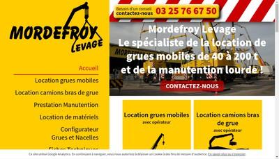 Site internet de Mordefroy Levage