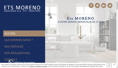 Site internet de Etablissements Moreno