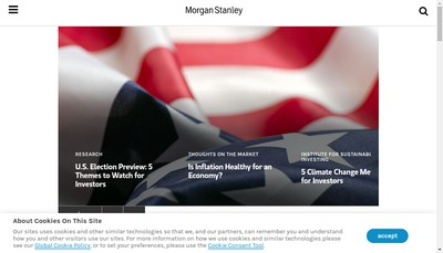 Site internet de Morgan Stanley France