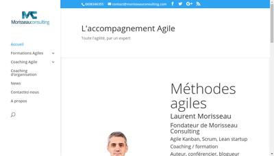 Site internet de Morisseau Consulting
