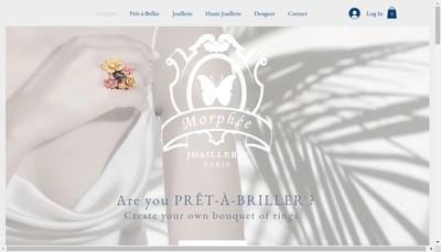 Site internet de Morphee Joaillerie Paris