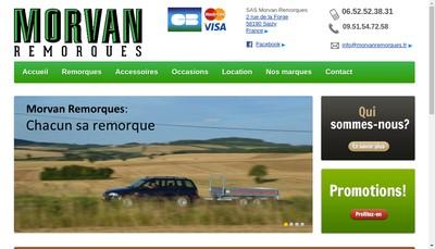 Site internet de Morvan Remorques