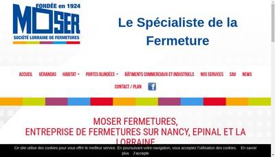 Site internet de Moser