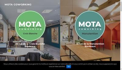 Site internet de Mota Coworking