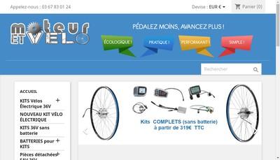 Site internet de Moteur et Velo