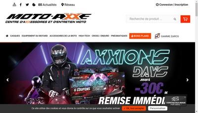 Site internet de Moto Axe