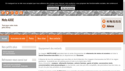 Site internet de Moto World