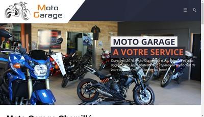 Site internet de Moto Garage