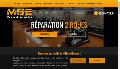Site internet de Moto Service Express