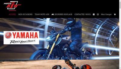 Site internet de Motoain, Dafy Moto et Yamaha