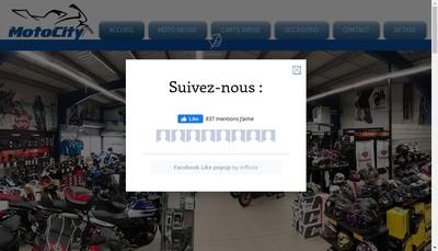 Site internet de Motocity