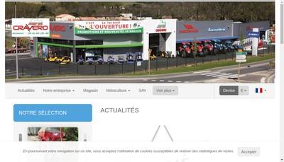 Site internet de Cravero Motoculture