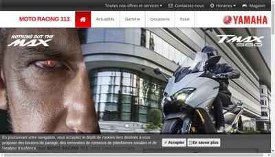 Site internet de Moto Racing 113
