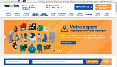 Site internet de Motralec