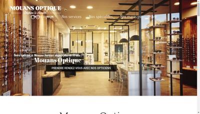 Site internet de Mouans Optique