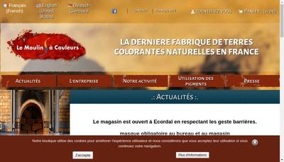 Site internet de SARL le Moulin a Couleurs