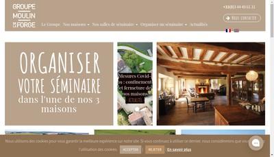 Site internet de SARL le Moulin de la Forge