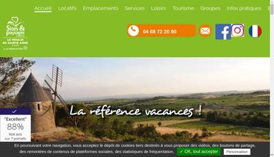 Site internet de Camping le Moulin de Sainte Anne