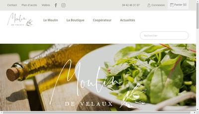 Site internet de La Boutique du Moulin de Velaux