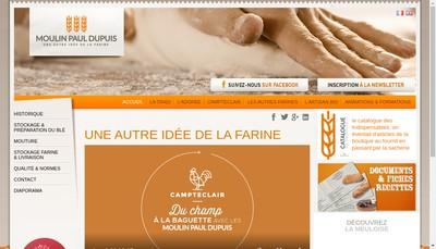 Site internet de Moulin Paul Dupuis