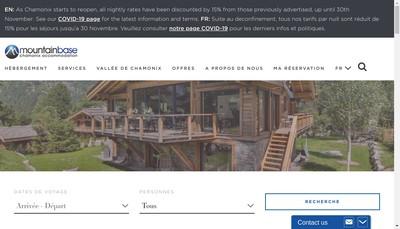 Site internet de SARL Mountain-Base Com