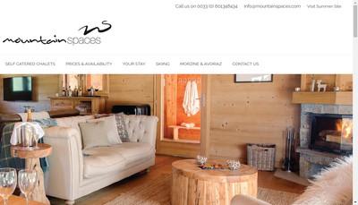 Site internet de Mountain Spaces