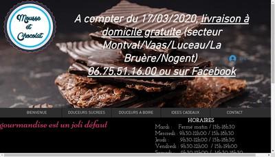 Site internet de Mousse et Chocolat