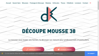 Site internet de Decoupe Mousse 38