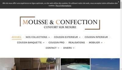 Site internet de Mousse & Confection