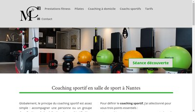 Site internet de Mouv & Coach