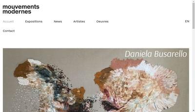 Site internet de Mouvements Modernes