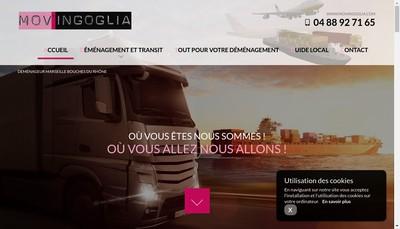 Site internet de Demenagements Mov' Ingoglia