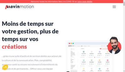 Site internet de Movinmotion