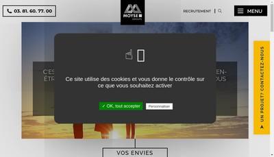 Site internet de Moyse Developpement