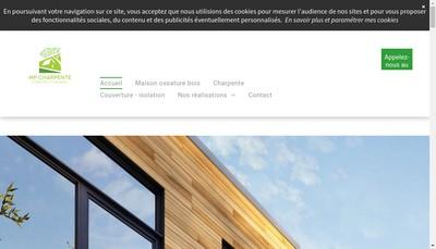 Site internet de Mp Charpente