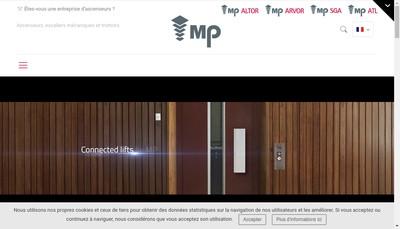 Site internet de Mp Ascenseurs