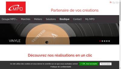 Site internet de Mpo France SAS