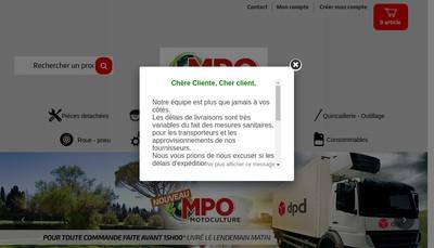 Site internet de Mpo Motoculture