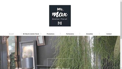 Site internet de Mr Max Atelier Floral