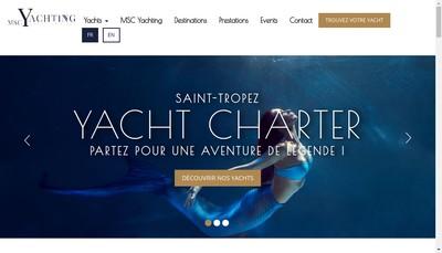 Site internet de Msc Yachting Saint Tropez
