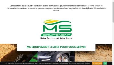 Site internet de Ms Equipement
