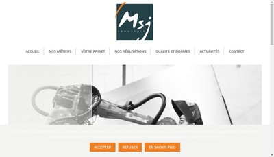 Site internet de Msj Industrie