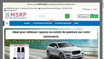 Site internet de Msrp France