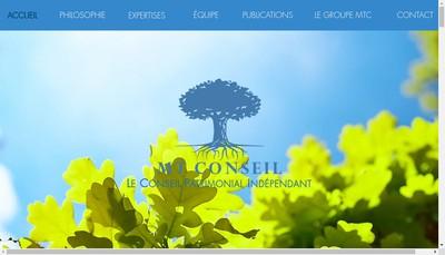 Site internet de Michel Tirouflet Conseil