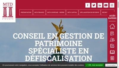 Site internet de Mtd Finance